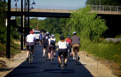 Cyclists on MBT  courtesy of Rail to Trails