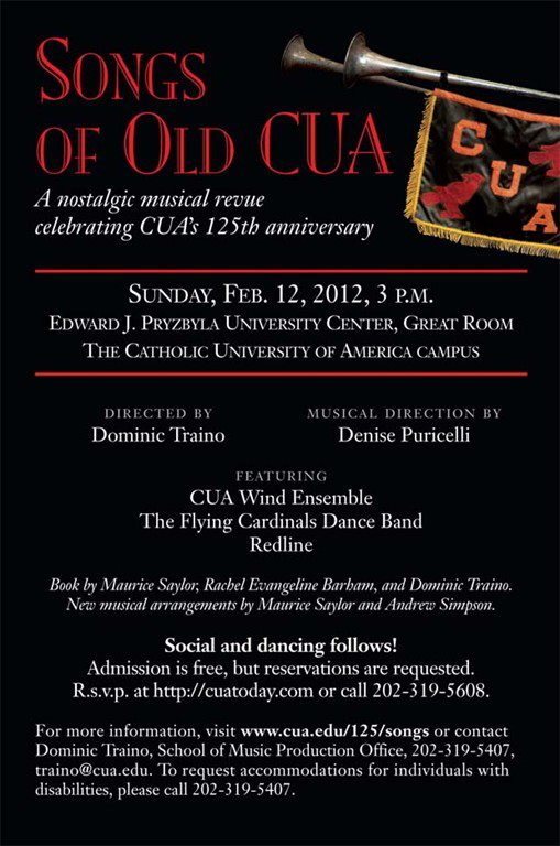 Songs of Old CUA