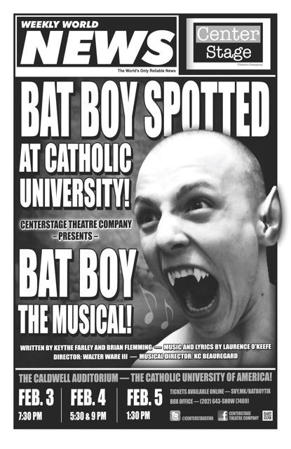 Bat Boy Spotted at Catholic University