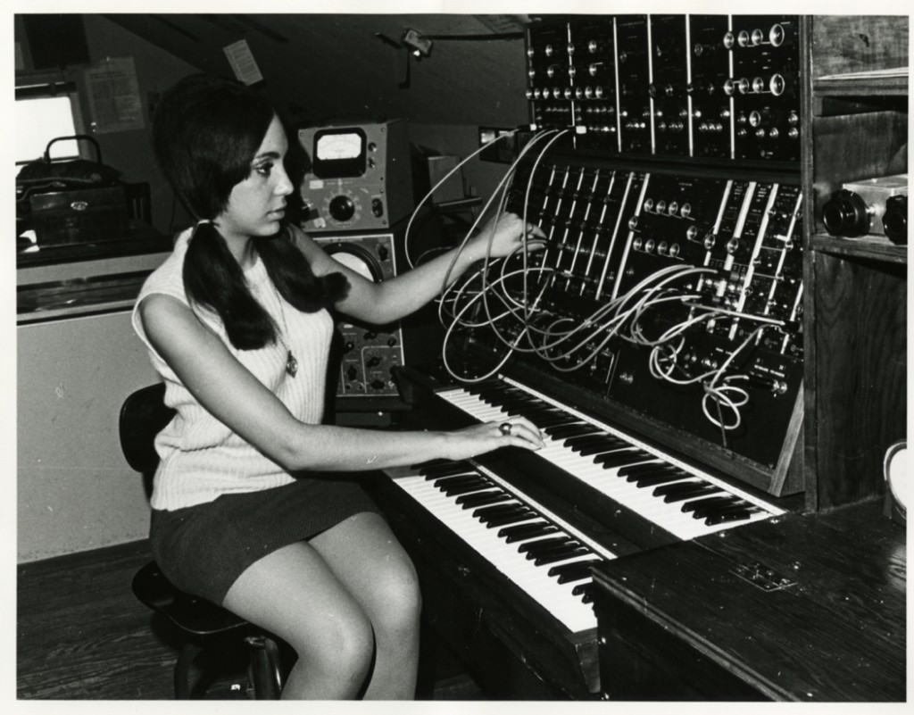 Electronic Music Studio, Female Student, ca. 1960s